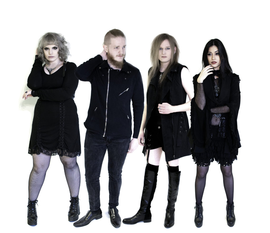 Visual Rock band Avalinity group picture 2019 AREKU SaSa Master K Fredrik